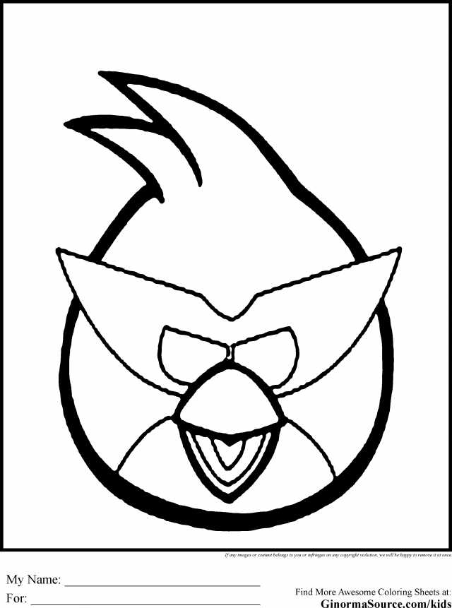 Name Angry Birds Coloring Pages Red Resolution Id 15329