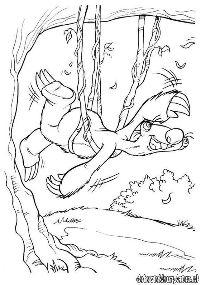 diego ice age coloring pages - photo#13