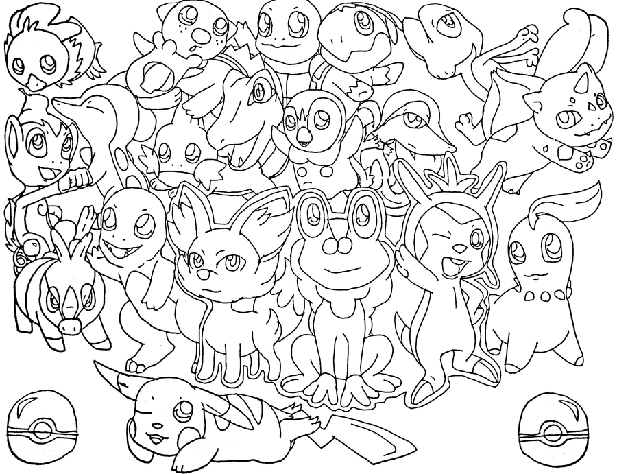 Piplup Pokemon Coloring Pages