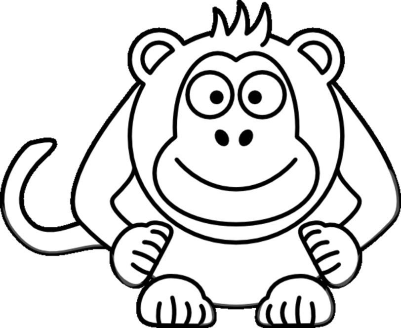 Monkey Coloring Pages | ColoringMates.