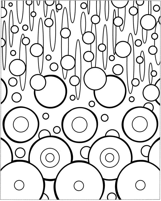 free coloring pages of abstract art therapy