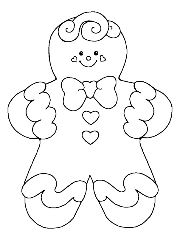 Gingerbread Boy Coloring Pages