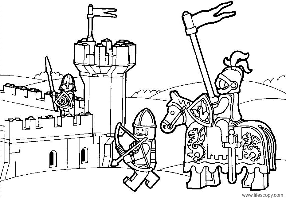 Printable Lego Colouring Pictures : Coloring pages lego az