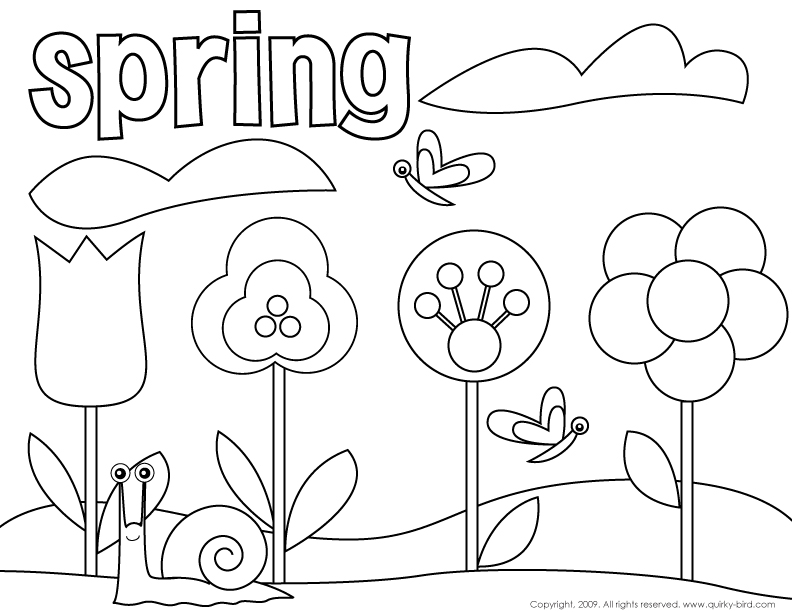 Free Spring Color Pages AZ Coloring Pages