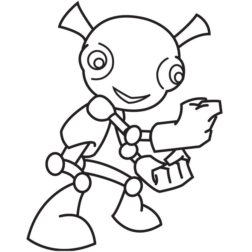 Aliens in the attic coloring pages az coloring pages for Cartoon alien coloring pages