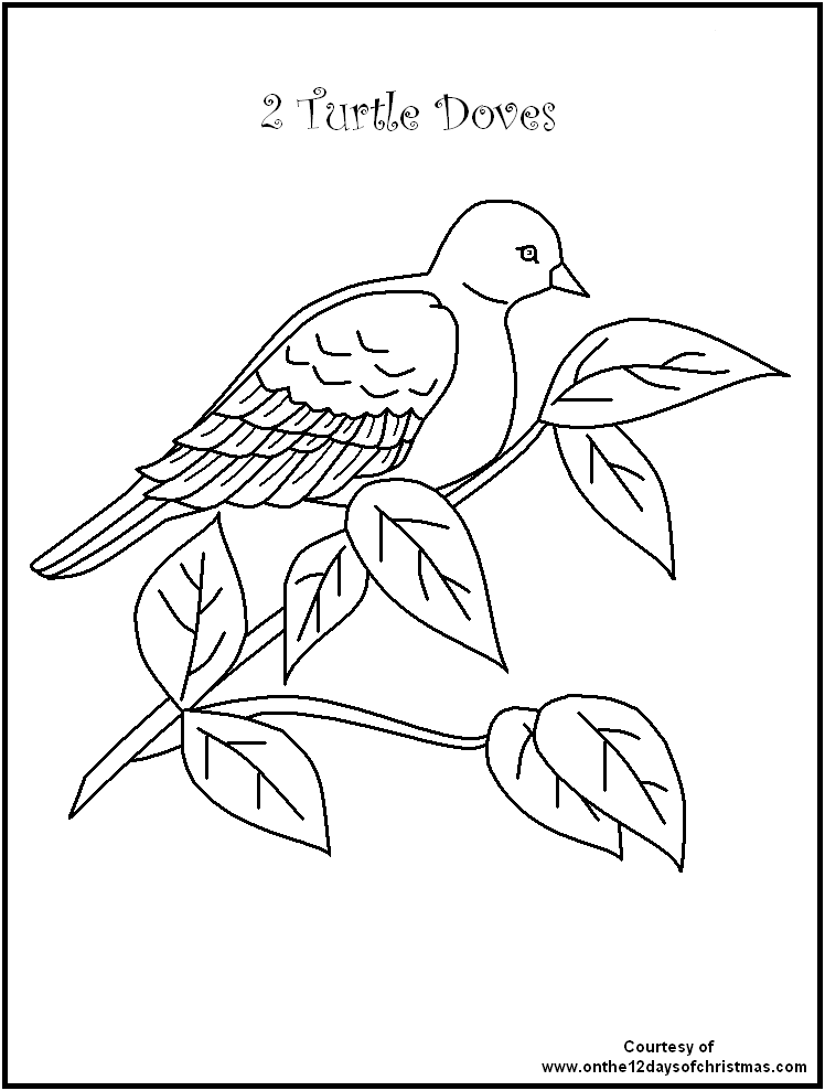 Twelve Days Of Christmas Coloring Pages Coloring Home