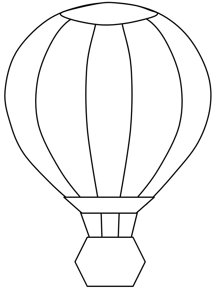 Printable balloon template az coloring pages