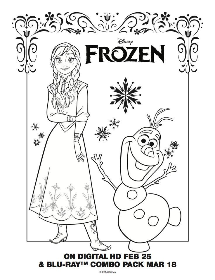 Frozen Coloring Pages Olaf In Summer Hd Frozen Anna Olaf ...