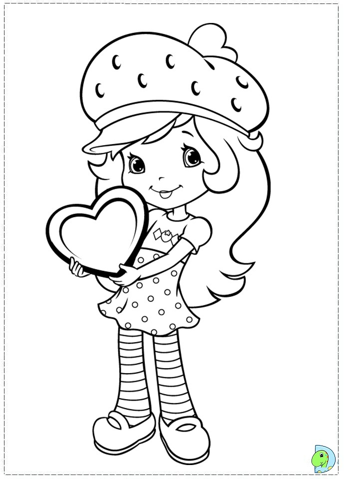 online strawberry shortcake coloring pages - photo#33