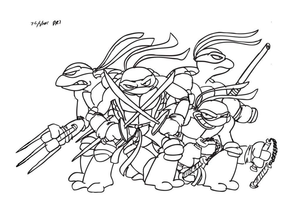 Teenage Mutant Ninja Turtle Coloring Pages