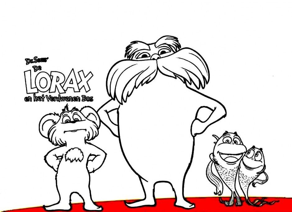 lorax coloring page coloring pages 247562 lorax coloring pages