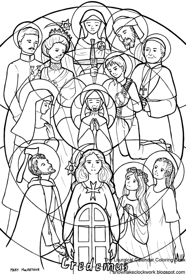 Printable Coloring Pages For All Saints Day : Catholic Saint Coloring Pages Coloring Home