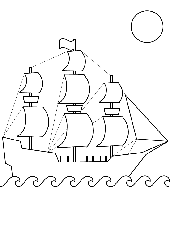 Christopher columbus printable coloring pages for Christopher columbus coloring pages printable