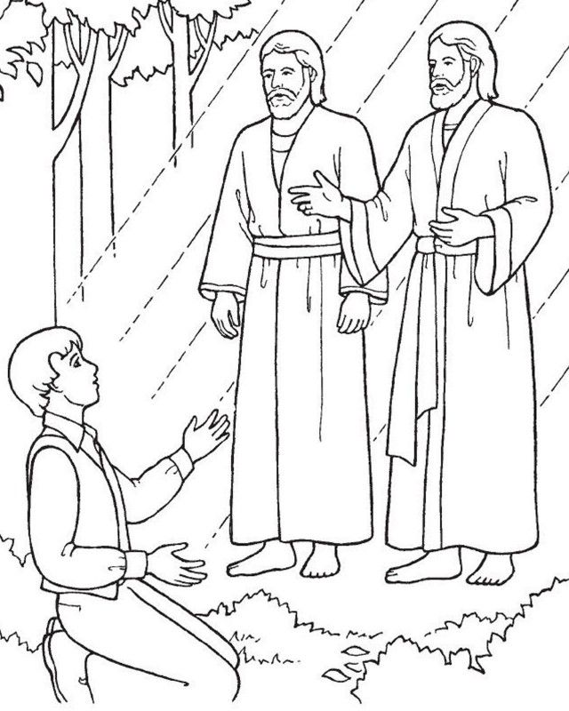 Joseph Smith Coloring Pages Coloring Home