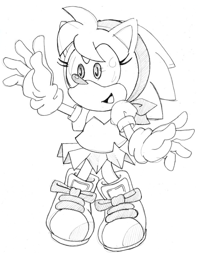 amy rose coloring pages - photo#29