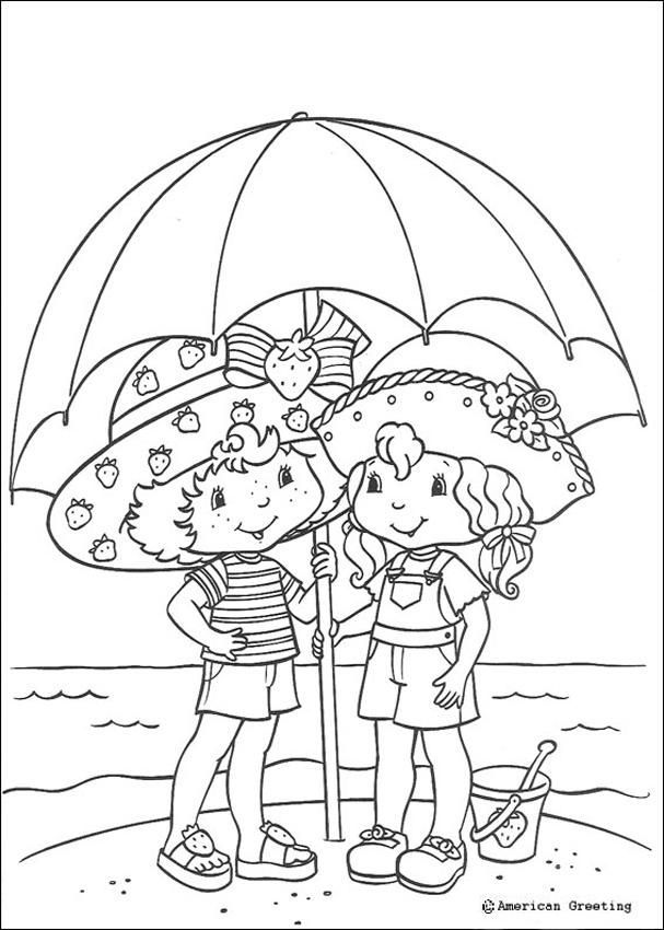 Beach Umbrella Coloring Page - Coloring Home