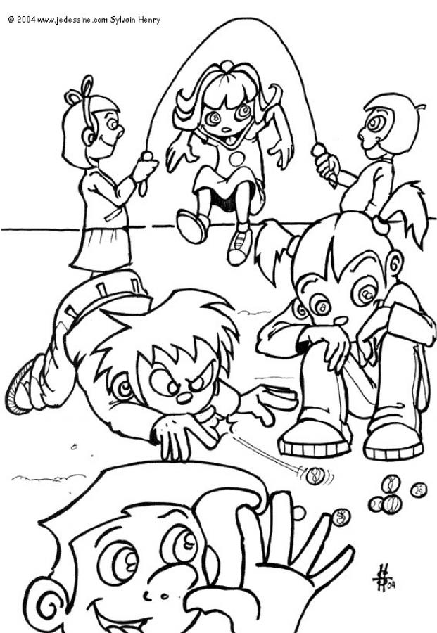 SCHOOL ONLINE coloring pages - Kids playing