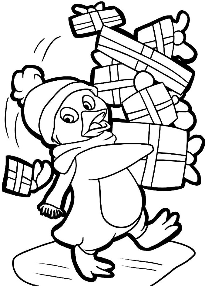 cute penguin coloring pages - photo#34
