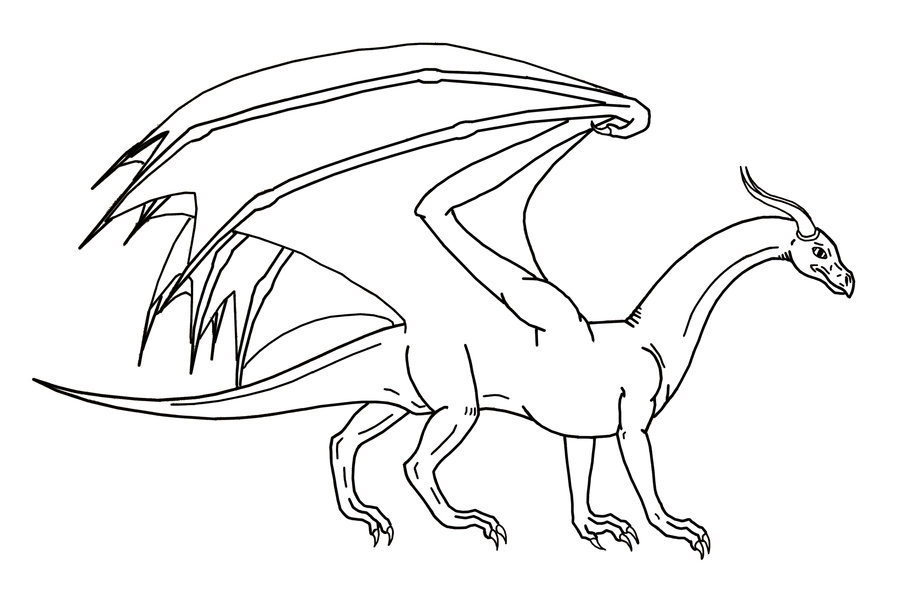 easy dragon coloring pages - photo#25