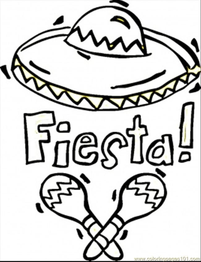 Coloring Pages Fiesta (Countries > Mexico) - free printable
