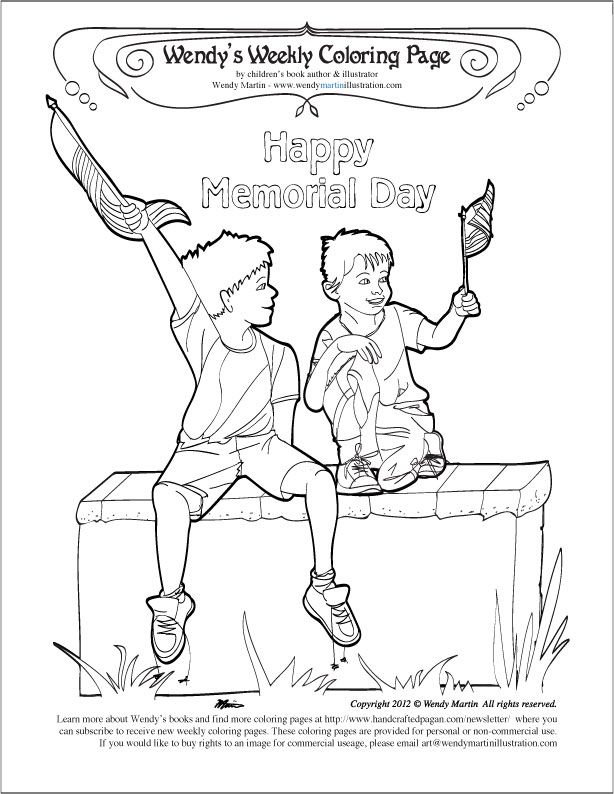 Memorial day coloring page coloring home for Free printable memorial day coloring pages