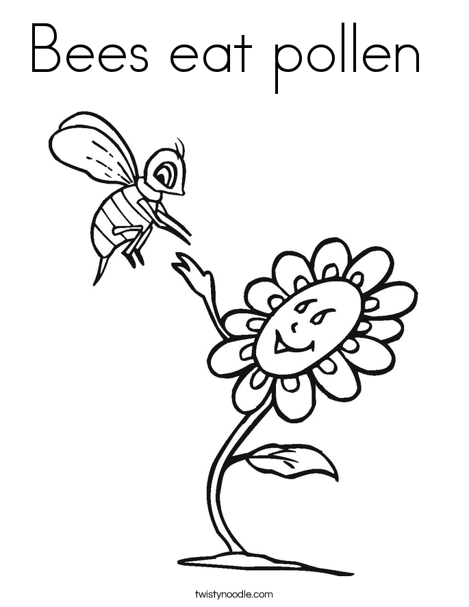 Honey Bee Coloring Page Coloring Home Honey Coloring Page