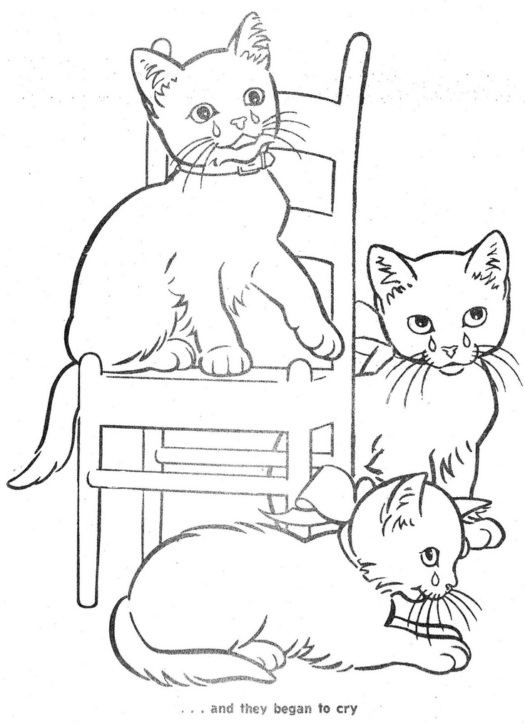 Three Little Kittens Coloring Pages