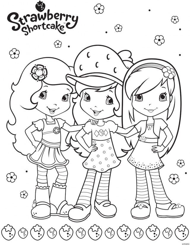 strawberry shortcake coloring pages printable strawberry 253484