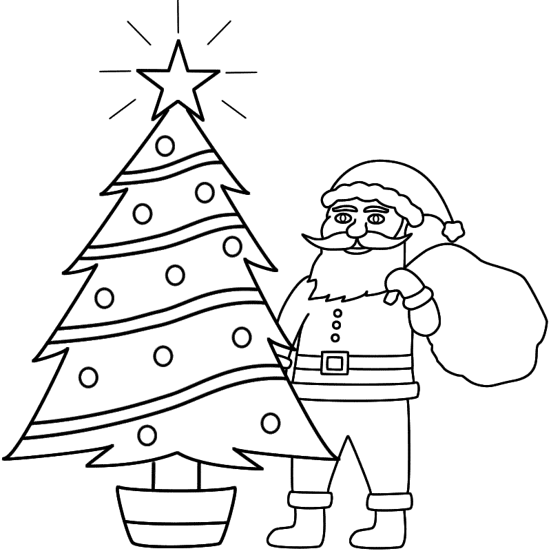 santa claus house coloring pages - photo#47