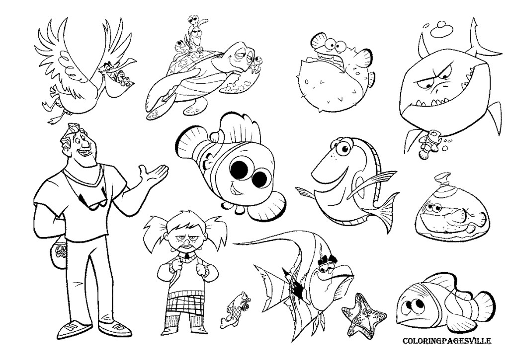 Finding nemo coloring pages az coloring pages for Nemo coloring pages online