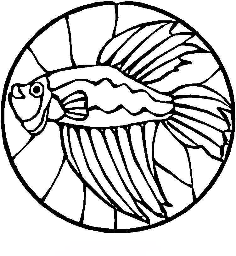 detailed stained glass coloring pages - photo#17