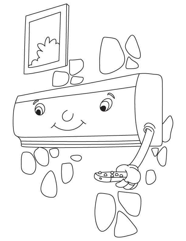 split air conditioner coloring pages  kids coloring pages  free