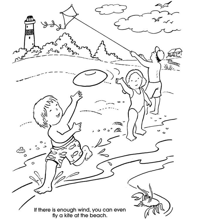Beach Coloring Pages For Kids  Coloring Home