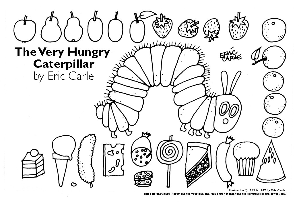 Very Hungry Caterpillar Coloring Pages Az Coloring Pages Hungry Caterpillar Coloring Pages