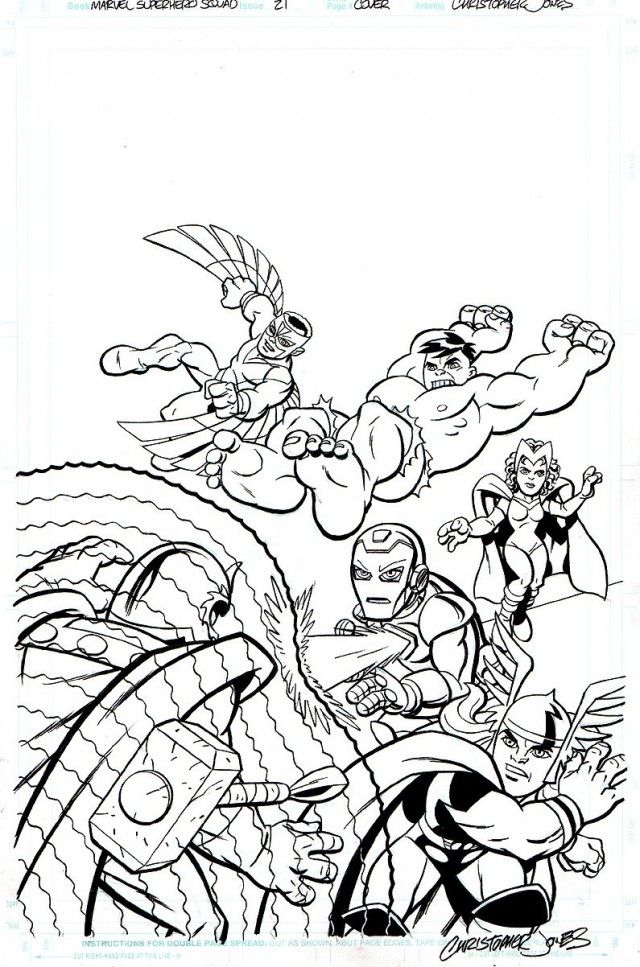 marvel comic coloring pages free - photo#11