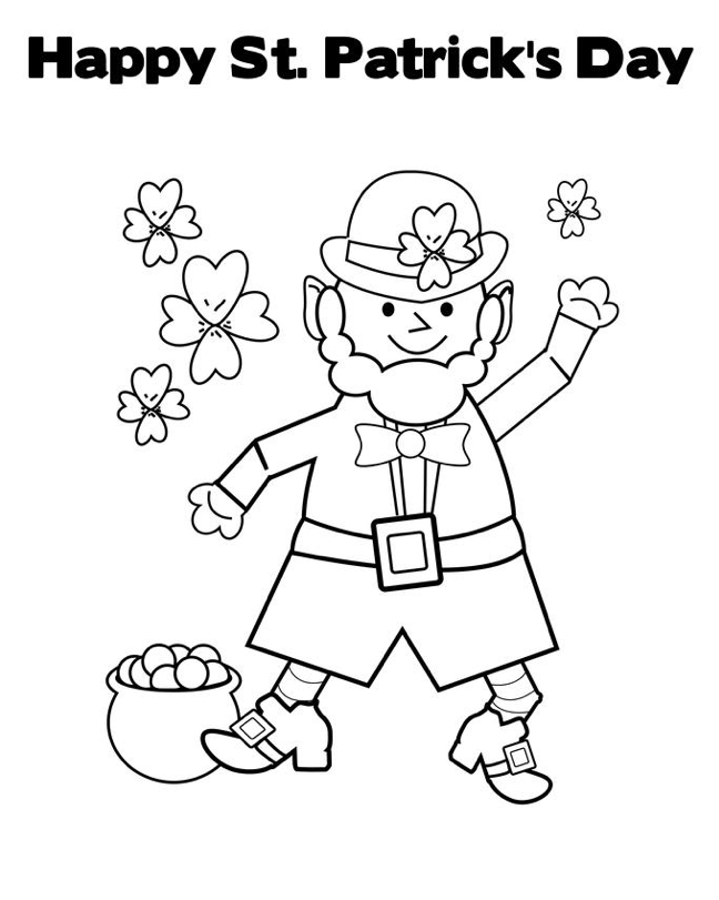 Printable st-patricks-day-coloring-sheet