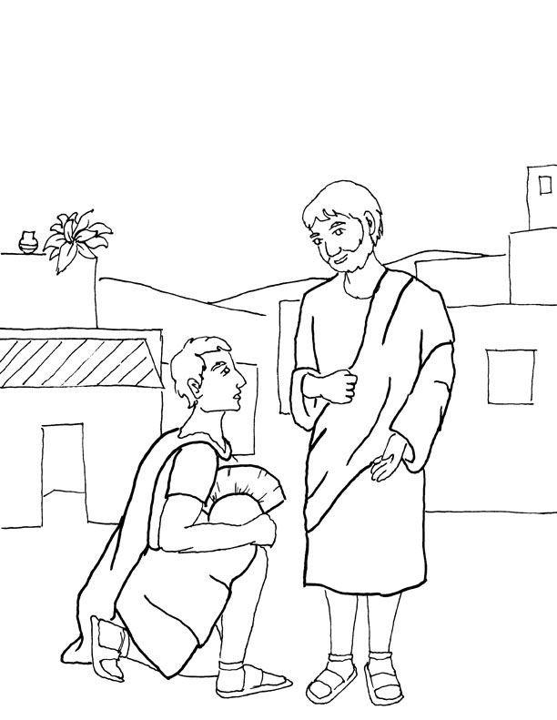 Jesus Heals The Blind Man Coloring