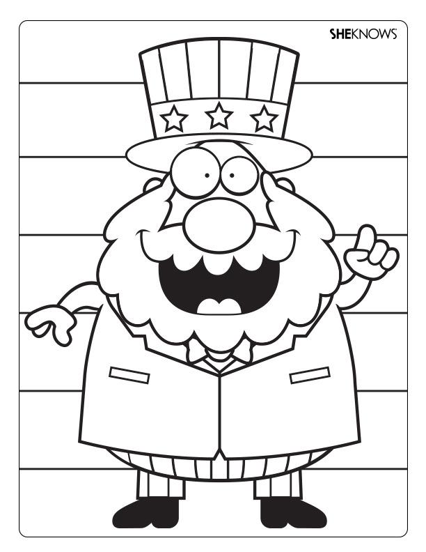 Uncle Sam Coloring Page - AZ Coloring Pages Uncle Sam Coloring Pages