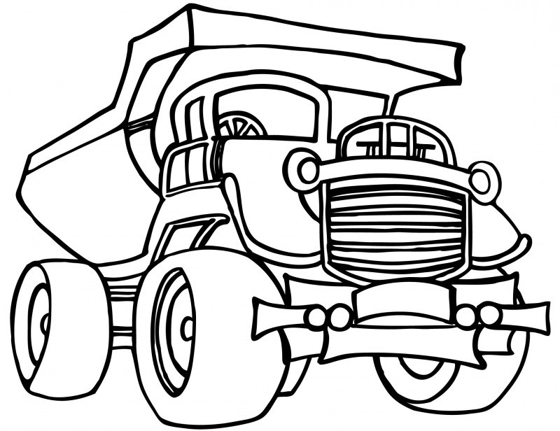 free construction vehicles coloring pages - photo#12