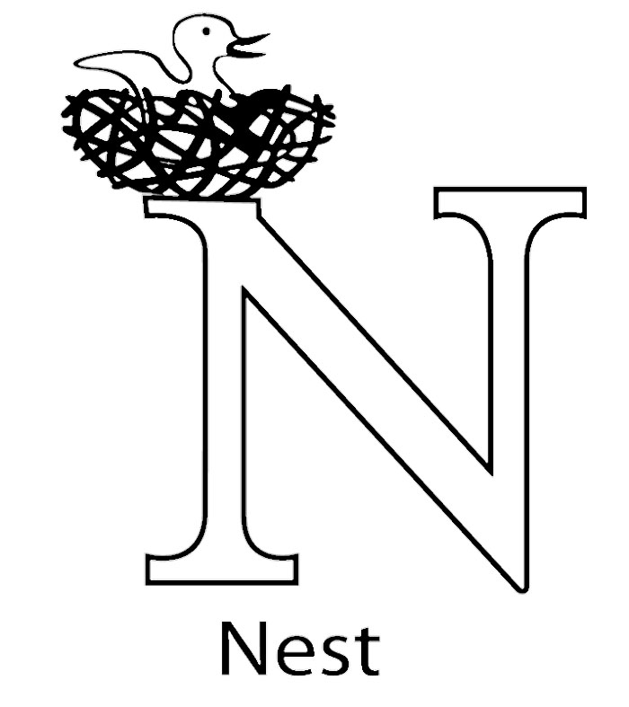 Bird Nest Coloring Page Az Coloring Pages