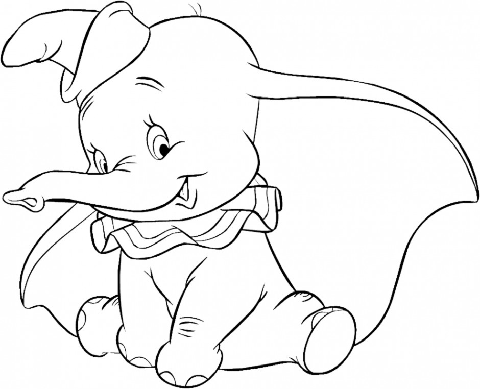 Dumbo Coloring Pages AZ Coloring