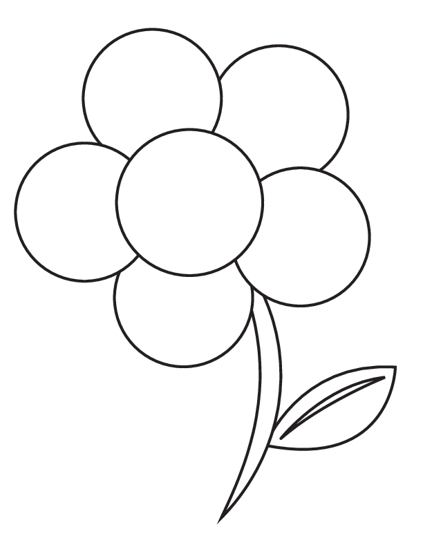 Blank Flower Template Coloring Home