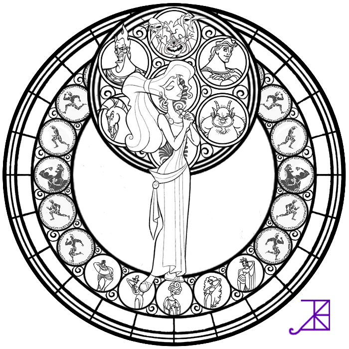 Stained Glass Window Coloring Page Home