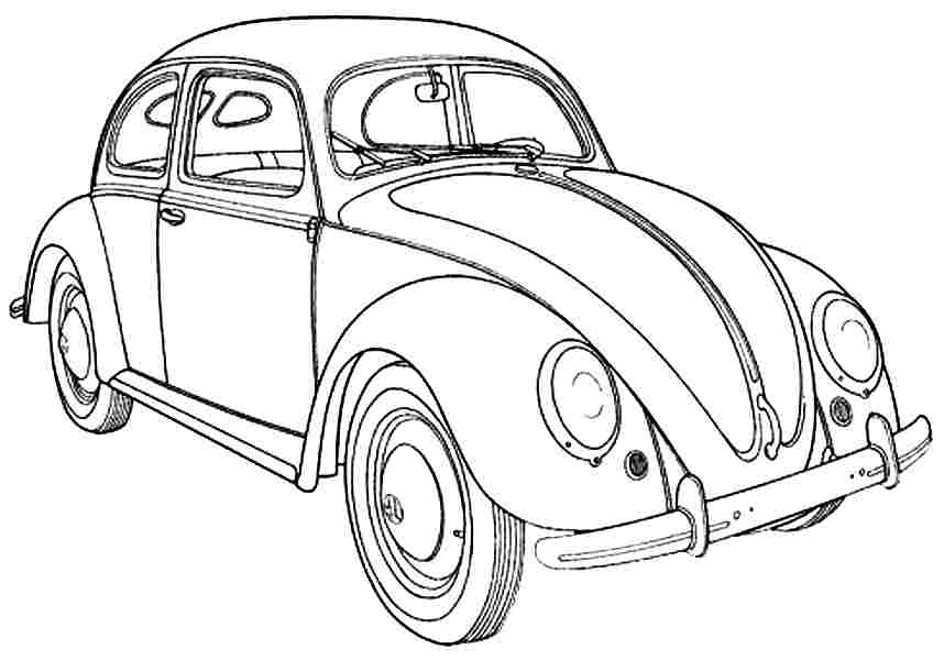 Transportation Cars Coloring Pages Free For Preschool