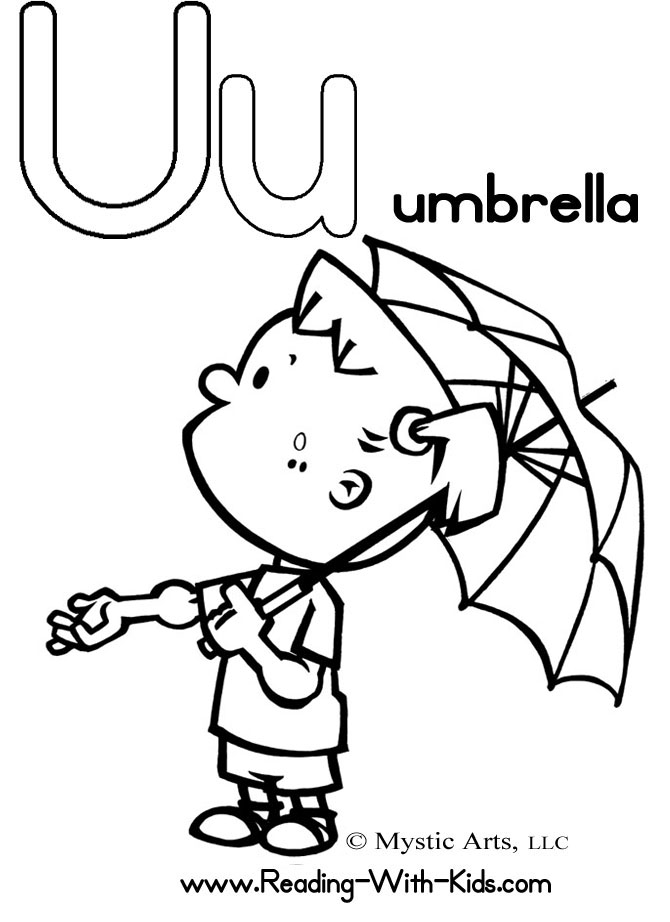 Letter U Coloring Pages To Print Coloring Pages Az U Coloring Pages