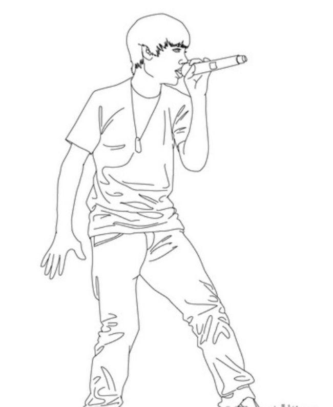 Justin bieber coloring pictures az coloring pages for Justin bieber coloring pages