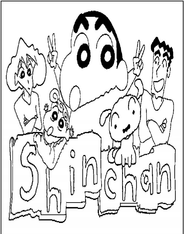 Principal Coloring Pages Shin Chan Coloring Pages