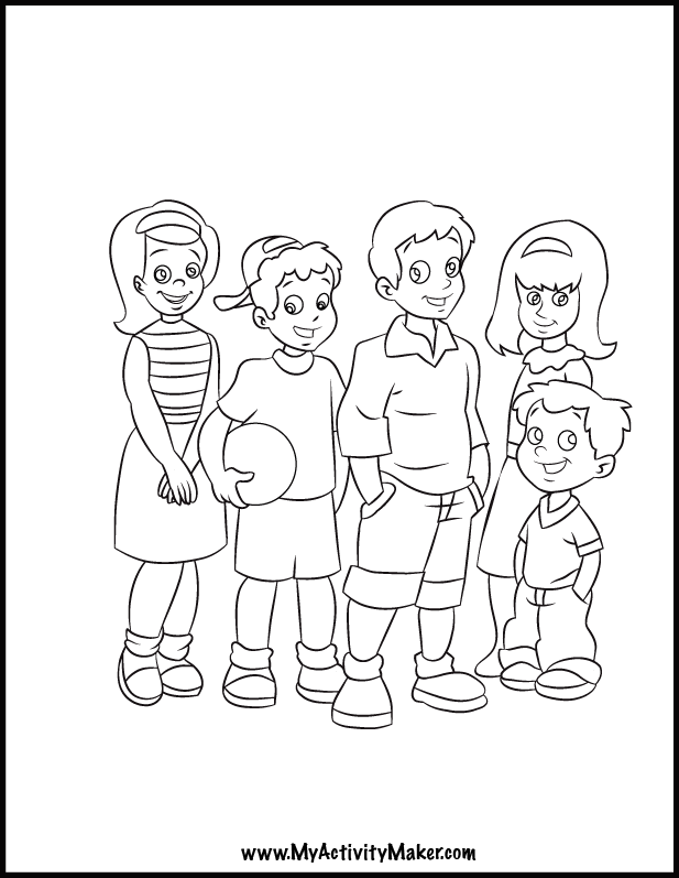 Free coloring pages of people coloring home for Free coloring page maker