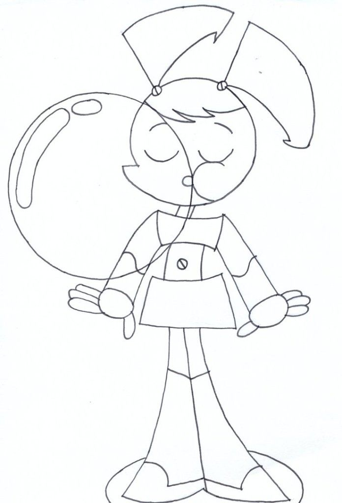 my life as a teenage the girl jenny robot coloring pages