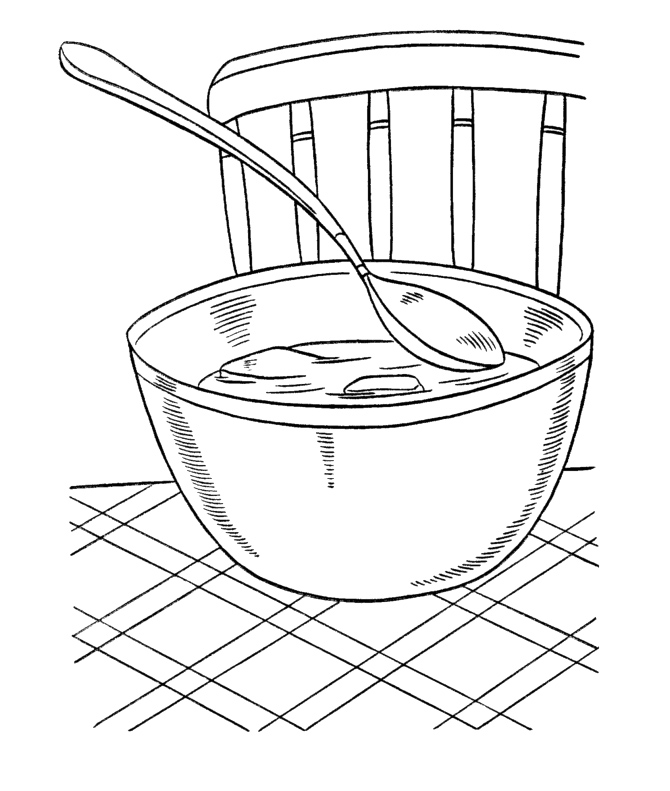 soup and sandwiches coloring pages - photo#36